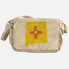 New Mexico Flag Map Messenger Bag