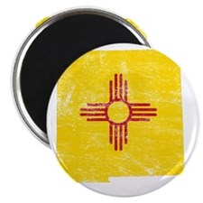 New Mexico Flag Map Magnet