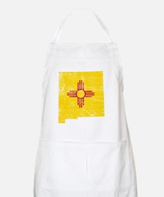 New Mexico Flag Map Apron