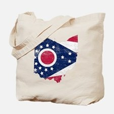 Ohio Flag Map Tote Bag