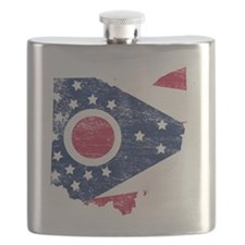 Ohio Flag Map Flask