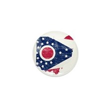 Ohio Flag Map Mini Button