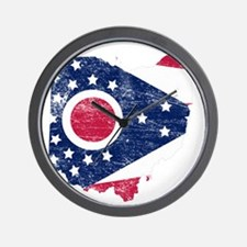 Ohio Flag Map Wall Clock