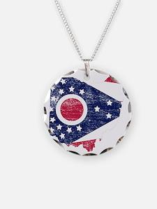 Ohio Flag Map Necklace
