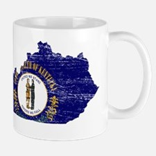 Kentucky Flag Map Mug