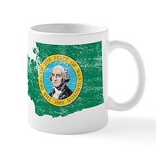 Washington Flag Map Small Mug