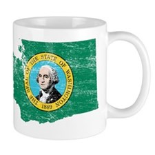 Washington Flag Map Small Small Mug