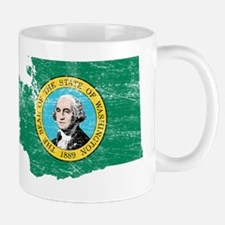 Washington Flag Map Small Small Mug