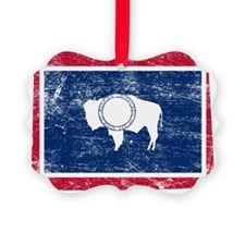 Wyoming Flag Map Ornament