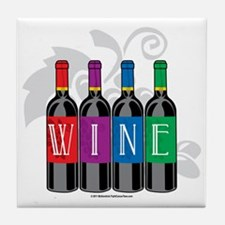 Wine-Bottles Tile Coaster