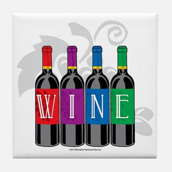 Wine-Bottles Tile Coaster