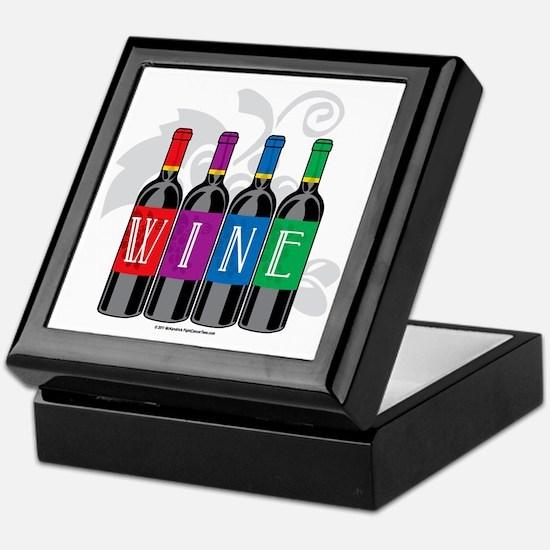 Wine-Bottles Keepsake Box