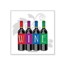 "Wine-Bottles Square Sticker 3"" x 3"""