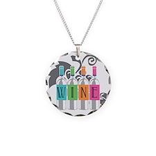 Wine-Bottles-blk Necklace
