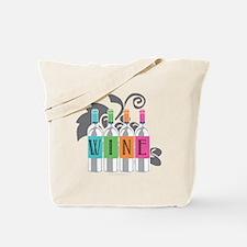 Wine-Bottles-blk Tote Bag