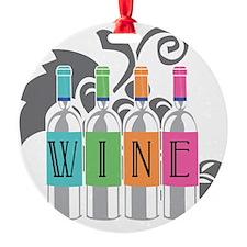 Wine-Bottles-blk Ornament
