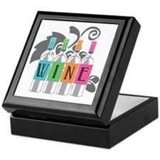 Wine-Bottles-blk Keepsake Box