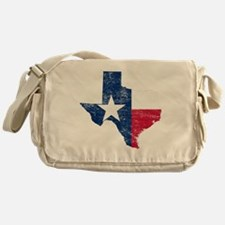 Texas Flag Map Messenger Bag