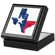 Texas Flag Map Keepsake Box