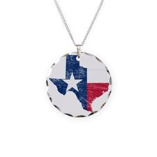 Texas Flag Map Necklace