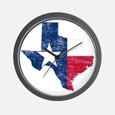 Texas Flag Map Wall Clock