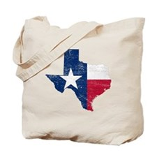 Texas Flag Map Tote Bag
