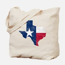 Texas Flag Map Tote Bag