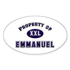 Property of emmanuel Oval Decal