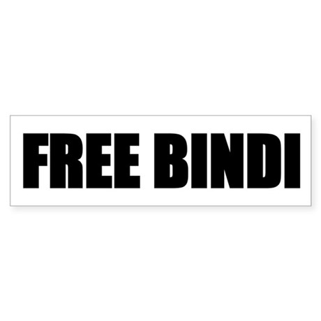 FREE BINDI Bumper Sticker