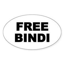 FREE BINDI Oval Decal