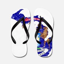 Michigan Flag Map Flip Flops