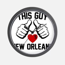 thisGUY-orleans-2 Wall Clock