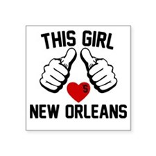 "thisGirl-orleans-2 Square Sticker 3"" x 3"""