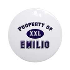 Property of emilio Ornament (Round)