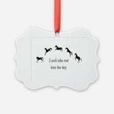 rather count horses Ornament