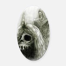 Horror Mage Oval Car Magnet