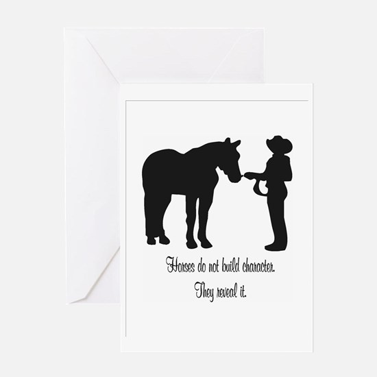Horses build Greeting Card