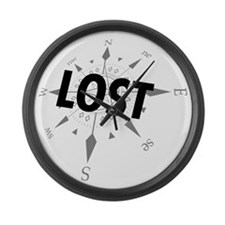lost1A Large Wall Clock