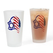 Stand With Israel Trans Drinking Glass