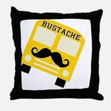 bustachebutton Throw Pillow
