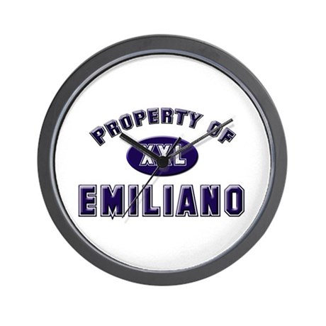 Property of emiliano Wall Clock