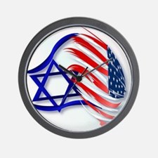 Stand With Israel_pillow Wall Clock