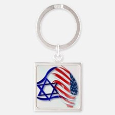 Stand With Israel_pillow Square Keychain
