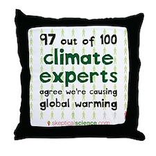 Climate Consensus Throw Pillow