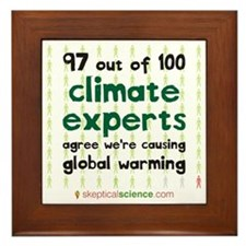 Climate Consensus Framed Tile