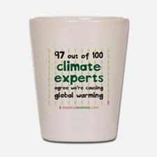 Climate Consensus Shot Glass