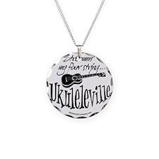 Ukuleleville Necklace Circle Charm
