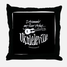 Ukuleleville Throw Pillow