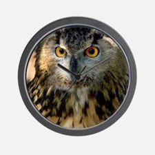 A Bengalese Eagle Owl Wall Clock