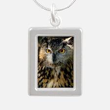 A Bengalese Eagle Owl Silver Portrait Necklace